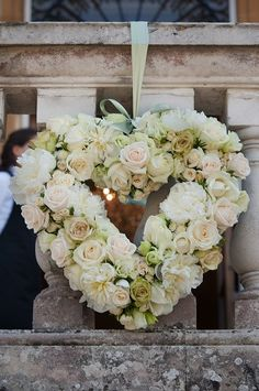 Floral Heart instead of cross for the memorial garden?!