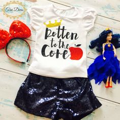 """Girls """"Rotten to the Core"""" Shirt by TiniDivas on Etsy https://www.etsy.com/listing/247769105/girls-rotten-to-the-core-shirt"""