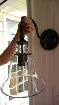 New Pottery Barn Rustic Glass Sconce Handblown Porch Deck Free SHIP | eBay