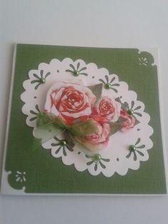 Kaart met rozen.
