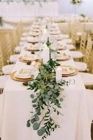 Resultado de imagen de leafy garland + wedding centerpiece + round table