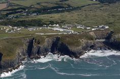 Penhale Camp - Built in 1939 to train anti aircraft gunners. Occupied in 1943 by the US Army Corps of Engineers as part of the build up to the D-Day Landings. Currently a training camp. Cornwall aerial image by John Fielding #penhale #cornwall #aerial #coast