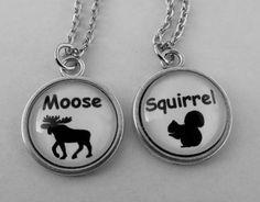 Supernatural Moose & Squirrel Necklace