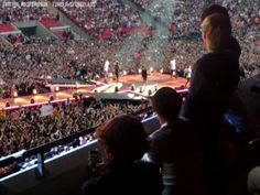 """ Wembley Stadium: One Direction watching their own success."" -- how could you"