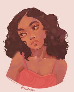 Black Girl Cartoon, Black Girl Art, Black Women Art, Pretty Art, Cute Art, Black Art Pictures, Afro Art, Digital Art Girl, Magic Art