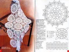 Kira scheme crochet: Scheme crochet no. 2205 Crochet Diagram, Crochet Chart, Thread Crochet, Crochet Scarves, Crochet Motif, Crochet Doilies, Crochet Clothes, Crochet Flowers, Crochet Stitches