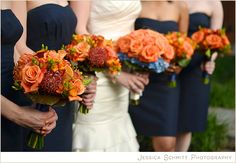 Wedding Bouquets with Orange Protea!