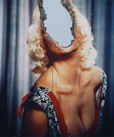 Photo Manipulation & Collage / Shop Crash Poster (Douglas Gordon: Self Portrait of You + Me (Jayne Mansfield), Gagosian Gallery Jayne Mansfield, Land Art, Douglas Gordon, Invisible Monsters, Tout Rose, Gagosian Gallery, Ugly To Pretty, Photocollage, A Level Art