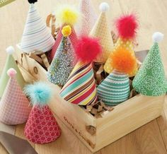 """De FÊte Fashionably designed """"chapeau de fete"""" make any party extra fun for both children and children at heart.Fashionably designed """"chapeau de fete"""" make any party extra fun for both children and children at heart. Party Animals, Animal Party, First Birthday Parties, First Birthdays, Birthday Hats, Diy Birthday, Homemade Birthday Decorations, Simple First Birthday, Olive And Cocoa"""