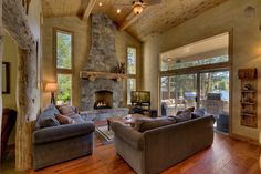 Enjoy the view and gas fireplace from the spacious great room