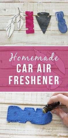 DIY car air fresheners so cute, you'll never want one from the car wash again! You can cut out and design your own and use essential oils to add the fresh smell! DIY tutorial here: http://www.ehow.com/how_4908206_homemade-car-air-freshener.html?utm_source=pinterest.com&utm_medium=referral&utm_content=freestyle&utm_campaign=fanpage
