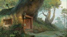 "Animation ""Winnie the Pooh"" by Paul Felix* Background Art Winnie The Pooh Background, Disney Background, Cartoon Background, Animation Background, Disney Concept Art, Disney Art, Hundred Acre Woods, Walt Disney Animation Studios, Tumblr"