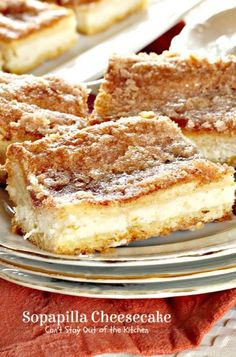 Sopapilla Cheesecake | Can't Stay Out of the Kitchen | these quick, easy and amazing #cheesecake #blondies are made with #crescentrolls and sprinkled with #cinnamon sugar on top. #cookie #dessert