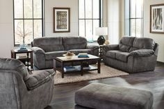 Jackson Furniture - Atlee 4 Piece Living Room Set in Pewter - 4431-03-02-01-10-PEWTER