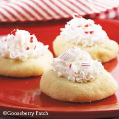 Candy Cane Thumbprints from 101 Christmas Recipes Cookbook by Gooseberry Patch