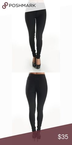 It's Like That High-Waist Jegging Pants Super stretch high-waist black Jeggings pants are super comfortable & flattering, you will love to wear them with everything. They fit nicely and shape to your body curves! These will become your favorite pants!! Pants