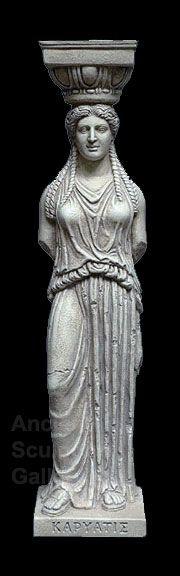 Acropolis Athens Greek Caryatid Column Sculpture Statue