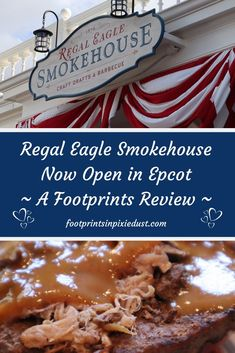 The Regal Eagle Smokehouse is now open in the American Adventure Pavilion of World Showcase at Epcot. We were too curious not to try it that first weekend! Disney World Tips And Tricks, Disney Tips, Disney Food, Disney World Planning, Walt Disney World, Disney Worlds, Disney Parks, Disney World Restaurants, Great Restaurants