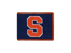 Syracuse University Needlepoint Bi-Fold Wallet by Smathers and Branson