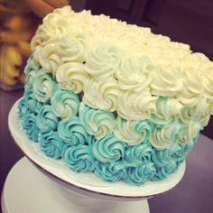 The cake I made @ FONUTS for a baby shower...it's a boy!