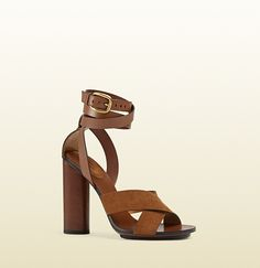 Gucci - candy suede and leather sandal http://georgiapapadon.com/