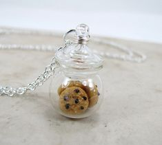 Black Friday Sale Chocolate Chip Cookie Jar Necklace Miniature Food Jewelry from CuteAbility on Etsy. Saved to My Accessories. Cute Jewelry, Jewelry Accessories, Kawaii Jewelry, Jewelry Ideas, Fimo Polymer Clay, The Bling Ring, Bottle Charms, Cute Charms, Cute Necklace