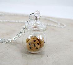 Chocolate Chip Cookie Jar miniatura alimentos por MapleMoonDesigns