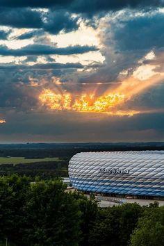 GERMANY ALLIANZ ARENA MUNICH SUNSET