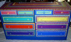 Hand Painted Furniture Wild and Crazy Custom Made to by LisaFrick,