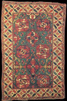 Holbein rug, 17th century, Ottoman Empire, Philadelphia Museum of Art (Joseph Lees Williams Memorial Collection, 55-65-5)