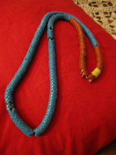 snake beads - African glass trade beads