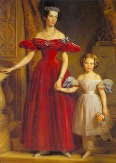 Luisa di Prussia (1808-1870), figlia di Queen Louise. Sposò il fratello di Marianna, principe Federico d'Olanda. E' con lei nel ritratto la figlia Luisa (1828-1871), futura regina di Svezia.