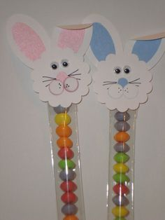 Sixlets with bunnies glued to too for favors! <3