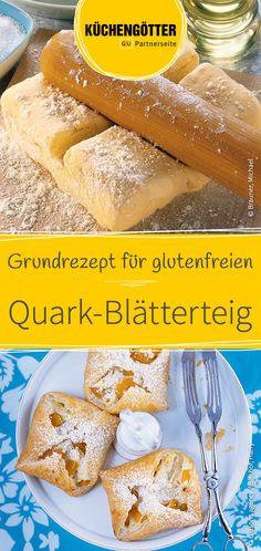 Einfaches Grundrezept für glutenfreien Quark-Blätterteig.