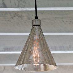 Regina Andrew Lighting Antique Mercury Glass Beaker Pendant @LaylaGrayce