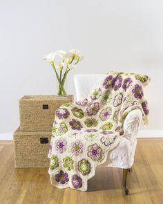 Learn to Crochet African Flower Motif from Leisure Arts. Find it here: http://www.leisurearts.com/products/learn-to-crochet-african-flower-motifs.html