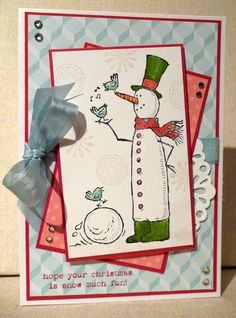 by Amy White, White House Stamping: Snow much fun!