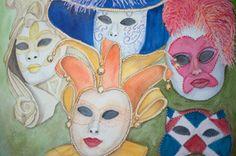 Máscaras Venecianas por PinturasElia en Etsy