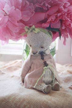 Купить Ася... - мишка тедди, мишка в платье, белые ночи, лето, мята, пион, тедди