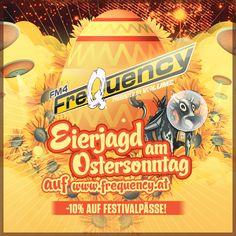 FreaQy Ostern: Am Sonntag verstecken wir euch verbilligte #FQ16 Festivalpässe auf www.frequency.at. Watch out! Festival 2016, Comic Books, Comics, Cover, Art, Easter Activities, Art Background, Kunst, Cartoons