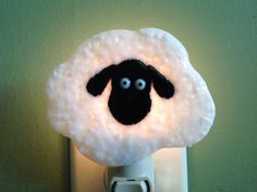 Fused Glass Sheep Night Light