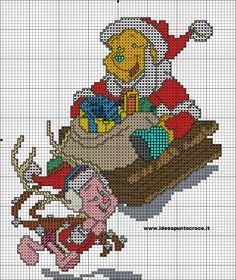 schema winnie pooh natalizio