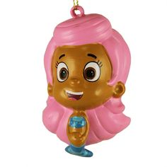 3.25' Bubble Guppies Glittered Molly the Mermaid Christmas Figure Ornament *** Special offer just for you. : Christmas Ornaments