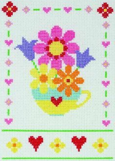 Flowers Cross Stitch Starter Kit from Anchor from £14.50