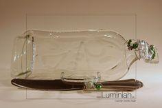 Schüsseln & Schalen - Bottle unARTig Recycling Weinflasche Unikat - ein Designerstück von Luminiah-Ideenreich bei DaWanda
