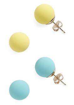 Candy Dot Earrings in Citrus