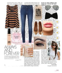 """""""Casual and cute"""" by raneliperera on Polyvore featuring 7 For All Mankind, Ray-Ban, Casetify, Maison Michel, Monsoon, Tory Burch, LASplash, Victoria's Secret and MAC Cosmetics"""