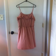 Lauren Conrad Blush colored dress This dress is so cute! Beautiful blush color with tiny gold metal disks all over! Make me an offer! LC Lauren Conrad Dresses