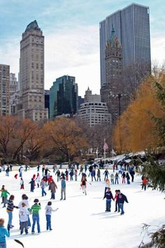 Ice Skating in Central Park, NYC.still my favorite NYC activity of all time Oh The Places You'll Go, Places To Travel, Places To Visit, Upper West Side, Photographie New York, Alaska, Brooklyn, New York Christmas, Christmas Ideas