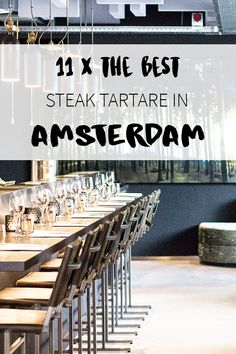 A steak tartate lover? On http://www.yourlittleblackbook.me there's a list with restaurants, cafes etc in Amsterdam that serve this dish!